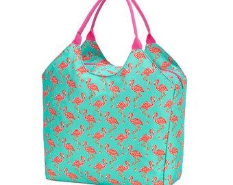 Personalized Beach Bag | Tickled Pink Flamingo Beach Bag | Large Beach Bag | Bridesmaid Gift | Graduation Gift