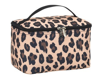 Personalized Cosmetic Bag   Bridesmaid Gift   Maid of Honor   Travel Makeup Case   Large Medicine Bag   Toiletry Bag   Wild side Leopard