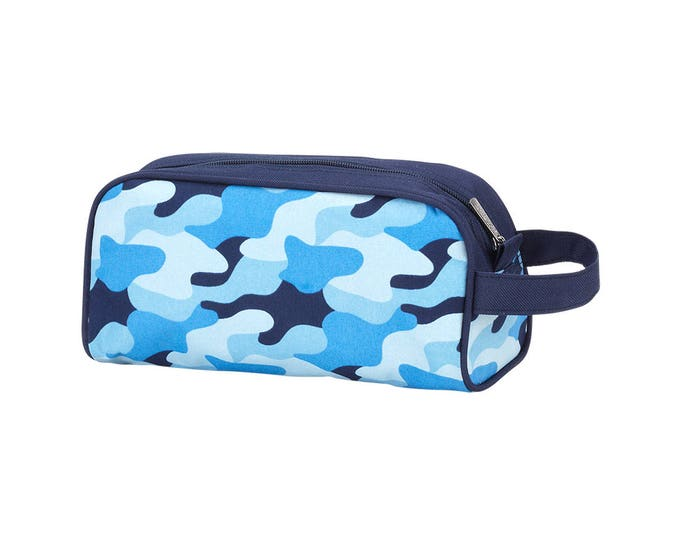 Featured listing image: Monogrammed Cool Camo Toiletry Bag | Groomsmen Gift | Boys Travel Accessory | Realtor Gift | Fathers Day | Ring Bearer Gift
