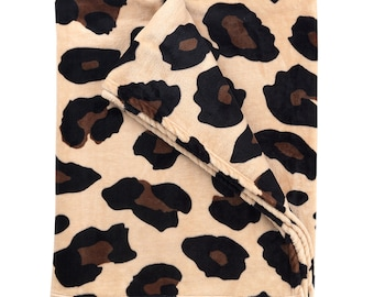 Personalized Plush Blanket   Personalized Blanket   Leopard   Personalized Blanket   Tween Gift