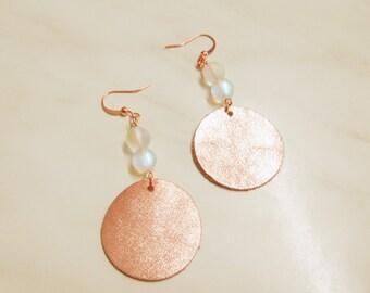 earrings leather acrylic