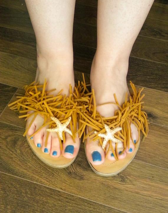 Sandals Sandals Sandals Suede Sandals Boho Rustic Sandals Sandals Sandals Starfish Hippie Sandals Leather Greek Sandals Fringe Beach wRqfqvAH
