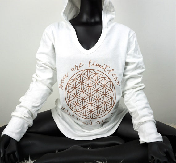 Sacred Geometry Clothing Plus Size Yoga Hoodie Flower Of Etsy