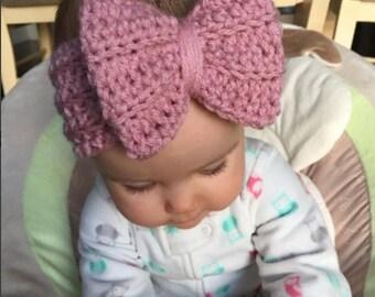 Crochet Bow Headband // Crochet Bow Headwrap // Crochet Bow Earwarmer