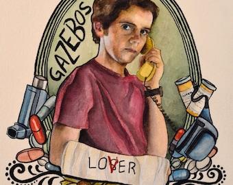 Eddie Kaspbrak - It - Movie - Stephen King - Losers Club - Watercolor Art Print
