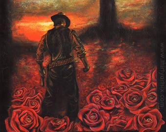 Dark tower etsy the dark tower stephen king gunslinger painting art print stopboris Gallery