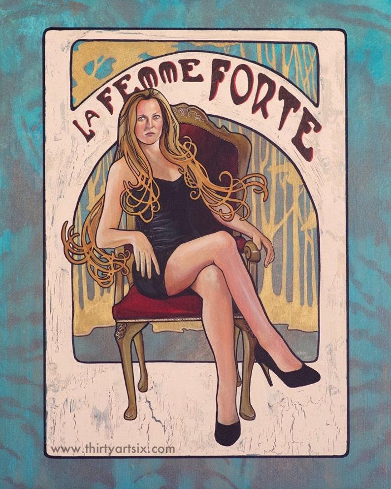 foto de Gillian Anderson La Femme Forte Art Print | Etsy