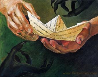 It - Stephen King - Paper Boat - Painting Art Print