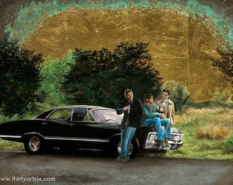 Supernatural - Heaven, Hell, and the Impala Art Print