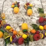 Rockabilly Necklace Retro Jewelry Fruit necklace Pineapple necklace Lemon necklace Grape necklace