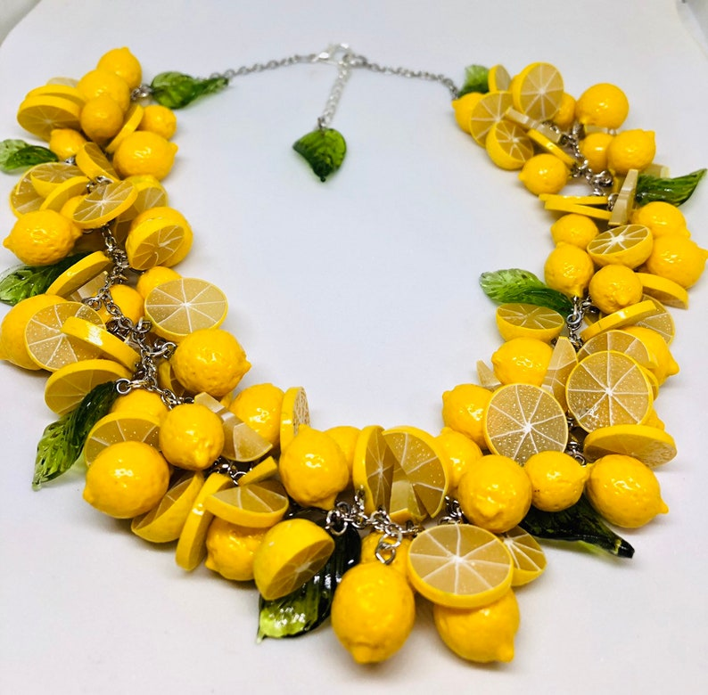 Lemon Necklace Rockabilly Jewelry Pinup Jewelry LEMONS Lemon image 0