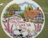 Bless this House Creative Circle Round Counted Cross Stitch #0616