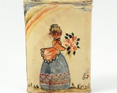 Vintage Folk Art Painting on Prince Albert Tobacco Pocket Tin Primitive