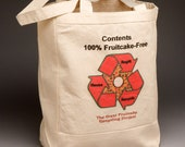 Fruitcake Free Canvas Shopping Tote Christmas Canvas Bag