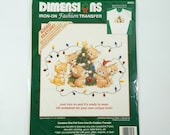 Dimensions Iron-On Fashion Transfer 80023 Christmas Kittens Ruth Morehead Warm & Whimsical