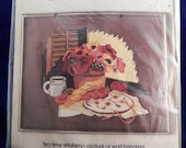 Tea Time Stitchery Bucilla Crewel Embroidery 48731 Vintage 80's