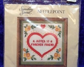 A Sister is a Forever Friend Needlepoint Kit