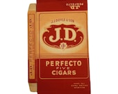 Vintage J.J. Doyle & Son Perfecto Five Cigars Box Cardboard for Crafts