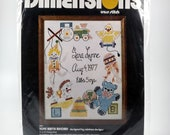 Dimensions Cross Stitch Toys Birth Record #3001 Vintage 1977 New