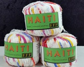 Haiti Eyelash Ribbon MultiColor 201 Variegated Filati FF 3 Skeins