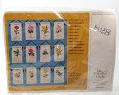 Creative Circle Embroidery Kit #828 November Chrysanthemum Tapestry Vintage 1980