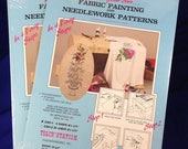 Fabric Painting or Needlework Pattern Transfer Sheets 2 Packs of 5