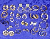 Pierced Earrings Lot Vint...