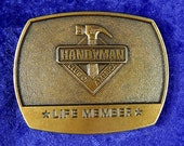 Handyman Club of America Lifetime Member Belt Buckle