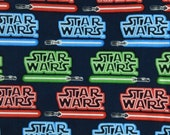 "Star Wars Lightsaber Fabric One Yard 43"" Wide"
