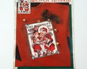 Daisy Kingdom #6138 On Santa's Knee Iron-On Transfer The Nostalgic Christmas Collection Norman Rockwell