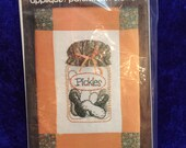 Pickles Wickin Stitchin Candlewicking Applique Vintage 1983 Flying Fingers