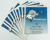 Napa Valley Chardonnay Wine Labels Goosecross Lot of 10