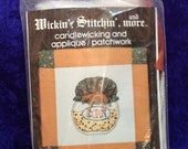 Wickin Stitchin Candlewicking Corn Relish Applique Vtg 83 Flying Finger WCR88