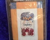 Raspberry Wickin Stitchin Candlewicking Applique Vintage1983 Flying Fingers