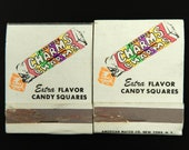Charms Candy Squares Vintage Matchbooks Set of 2 Advertising American Match Co.