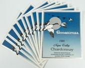 Napa Valley Chardonnay Wine Labels Goosecross Lot of 10