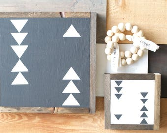 Tribal triangle 13x13 wooden sign