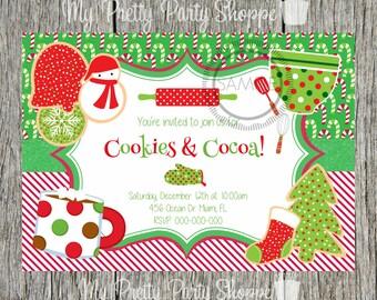 christmas party invitation kids christmas children s etsy
