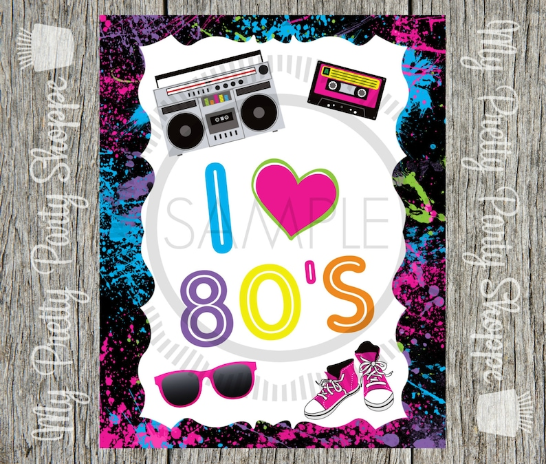 80er Party Dekoration I Love The 80s 80s Völlig Etsy