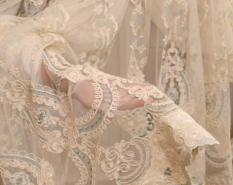 """Embroidered tent """"MARIASOFIA"""" blue collection """"precious curtains"""""""