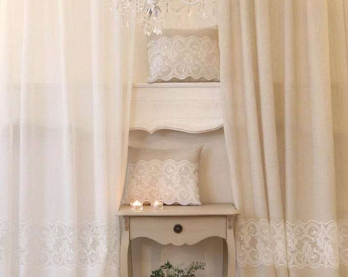 Linen tent and fine lace