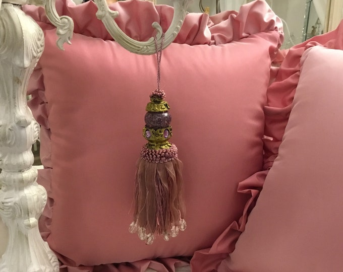 "Bow for Keys ""engy"" pink decoration doors, furniture, Italian luxury"