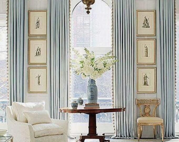 Precious curtains Art Deco made in Italy