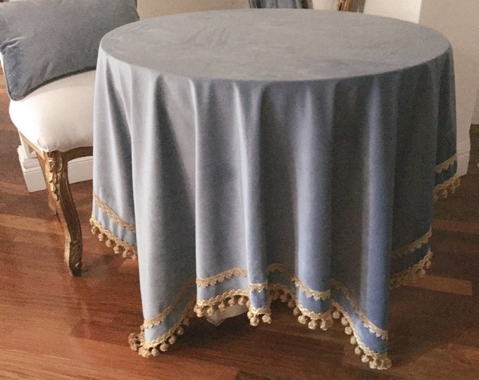 "Table Cover ""Velvet Blue"" collection"