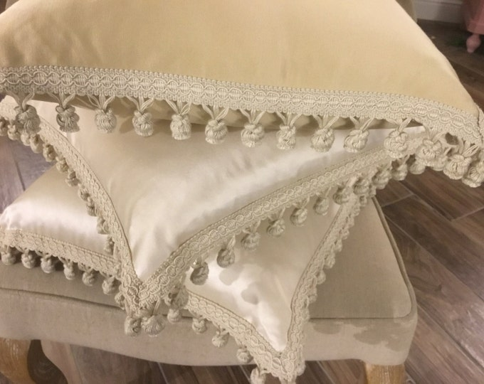 Decorative Pillow with trimmings