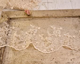 """Precious antique lace """"MARIA SOFIA"""" white/ivory"""