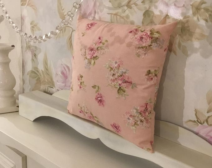 Pillow pink flowers with flakes