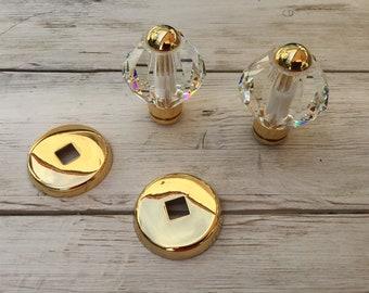 Pomoli for door in pure ancient crystal