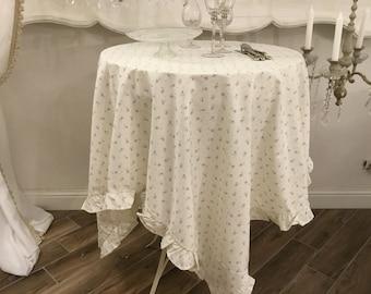 Provencal Tablecloth Blue Floret