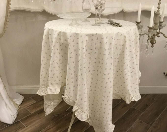 Blue Flower Provenal Tablecloth